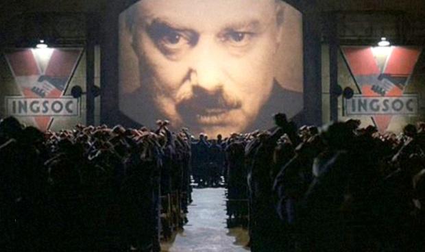 Escena de la película 1984 basada en la novela homónima de George Orwell