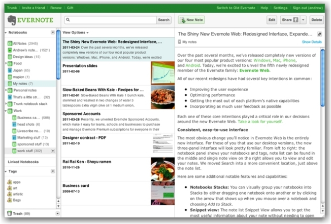 evernote captura