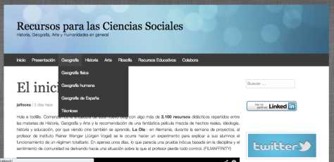 Captura de pantalla de recursosccss.wordpress.com