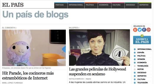 Diarios como El País incorporan los blogs a sus ediciones digitales