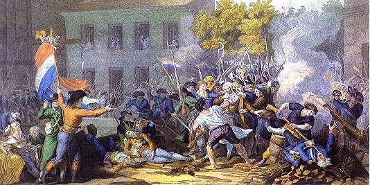 Momento de la Toma de la Bastilla - París, 14 de Julio de 1789
