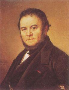 Stendhal retratado por Johan Olaf Sodemark (1840)