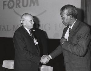 Mandela y De Klerk en 1992