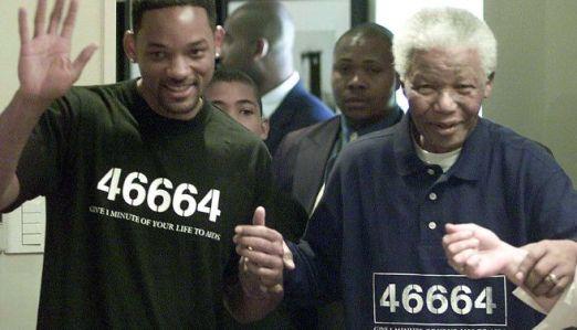 """Will Smith con Mandela en la campaña """"46664"""""""