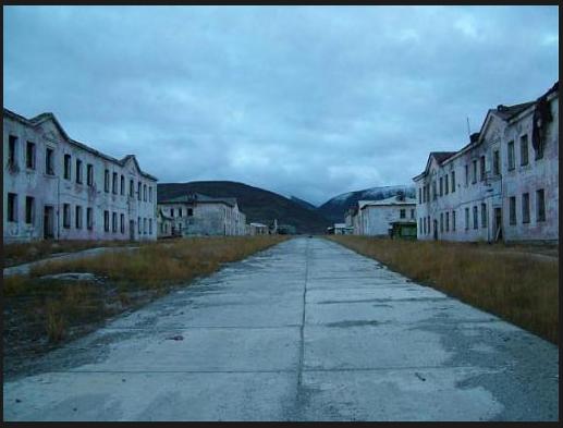 """Ciudad """"fantasma"""" de IULTIN (región de Chukotka Iultinskom, noreste de Rusia)"""