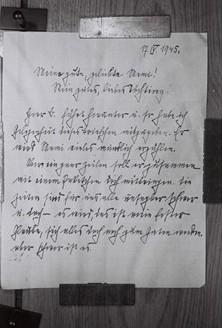 Una de las últimas cartas de Himmler