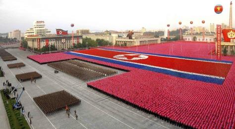 Fiesta militar en Corea del Norte