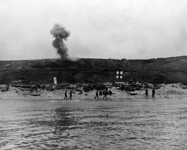 FRANCIA. Normandía. Tropas de los Estados Unidos en Omaha Beach