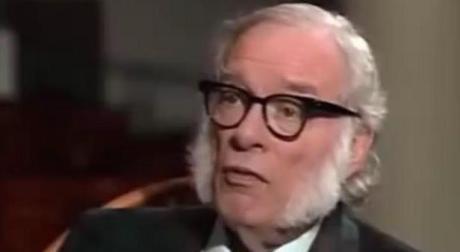 Isaac Asimov durante la entrevista