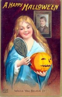 Cartel que anuncia la llegada de Halloween en 1904